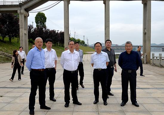 1盛文军一行了解陆水河干流重点河段防洪治理工程建设情况.jpg
